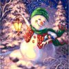 Christmas Snow Landscape Acrylic Paint - DIY Paint By Numbers - Numeral Paint