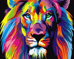 Colorful Lions Animals - DIY Paint By Numbers - Numeral Paint
