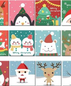 Cute Christmas Animals - DIY Paint By Numbers - Numeral Paint