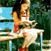 Cute Girls - DIY Paint By Numbers - Numeral Paint