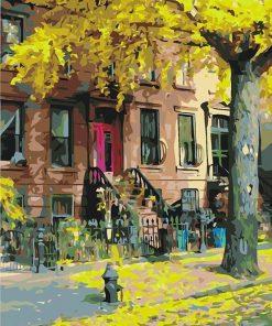 Deciduous Landscape Calligraphy City - DIY Paint By Numbers - Numeral Paint