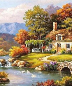 Fairyland Landscape Kits Coloring Painting - DIY Paint By Numbers - Numeral Paint