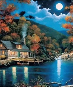 Fantasy Rural Landscape - DIY Paint By Numbers - Numeral Paint