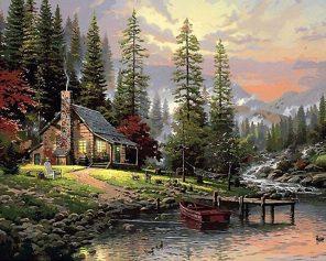 Field House Landscape Decoration - DIY Paint By Numbers - Numeral Paint