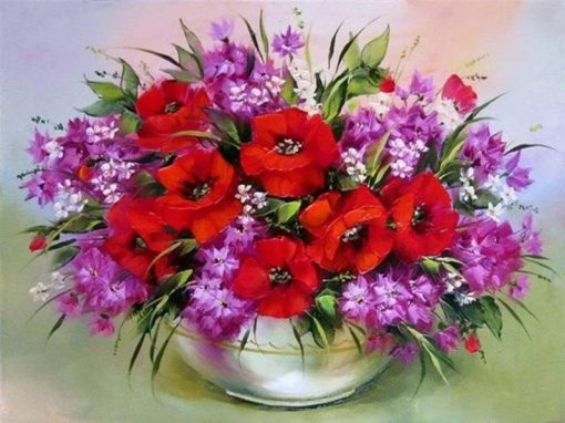 Flowers Painting - DIY Paint By Numbers - Numeral Paint