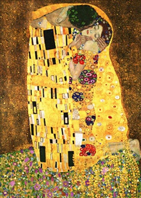 Kissing Handpainted Oil Painting - DIY Paint By Numbers - Numeral Paint
