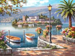 Lake Boat Landscape - DIY Paint By Numbers - Numeral Paint