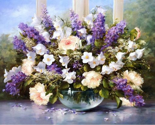 Lavender Modern Oil Painting - DIY Paint By Numbers - Numeral Paint