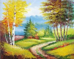 Modern Autumn Scenery City - DIY Paint By Numbers - Numeral Paint
