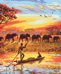 Picture Elephant Art Acrylic - DIY Paint By Numbers - Numeral Paint