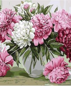 Picture Pink Flowers Kits Coloring  - DIY Paint By Numbers - Numeral Paint
