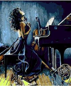 Piano girl unique gift home wall art picture - DIY Paint By Numbers - Numeral Paint