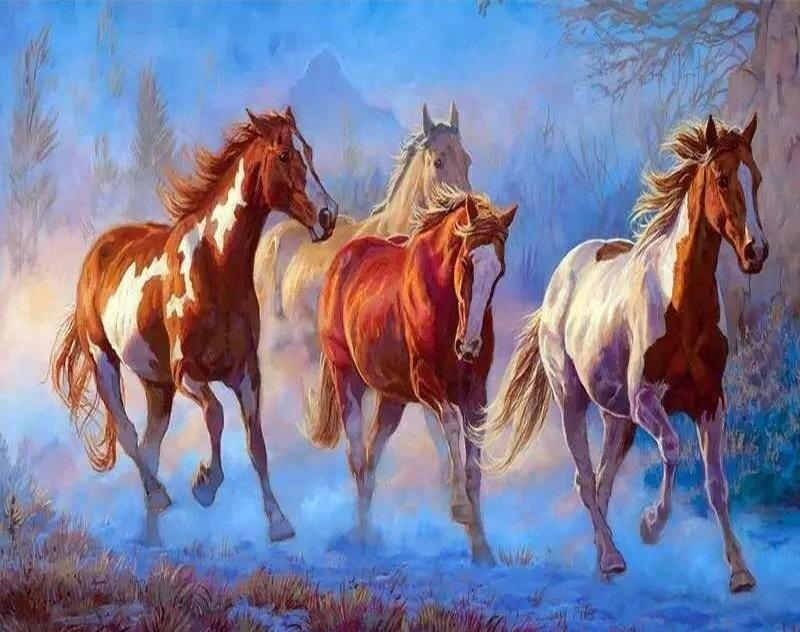 Horse Animals Painting - DIY Paint By Numbers - Numeral Paint