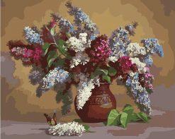 Purple Lavender Flowers - DIY Paint By Numbers - Numeral Paint