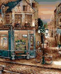 Europe Coffee Shop Artwork - DIY Paint By Numbers - Numeral Paint
