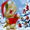 Cartoon Christmas Painting - DIY Paint By Numbers - Numeral Paint