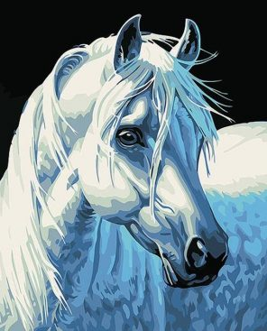 Kits white horse City - DIY Paint By Numbers - Numeral Paint