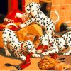 Dalmatians Animals - DIY Paint By Numbers - Numeral Paint