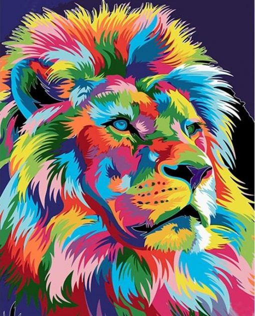 Frame Lion Picture- DIY Paint By Numbers - Numeral Paint