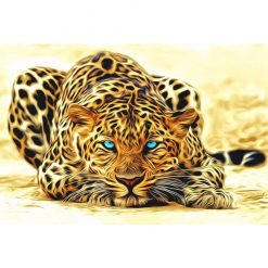 Leopard animals Acrylic picture wall art canvas - DIY Paint By Numbers - Numeral Paint