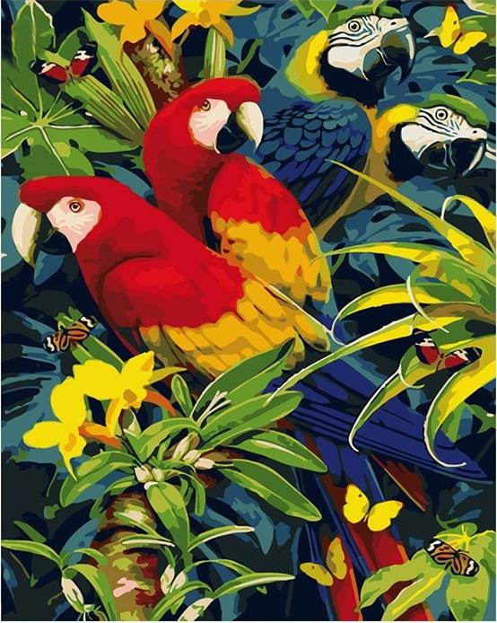 Animals wall art picture acrylic paint - DIY Paint By Numbers - Numeral Paint