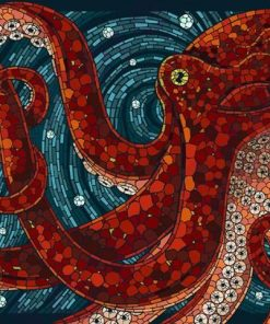 Red Octopus paint by numbers