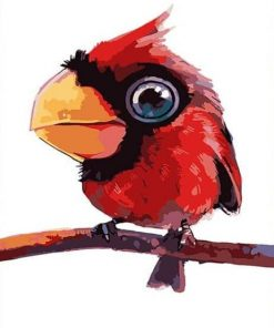 Red Parrot paint by numbers
