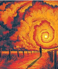 Red Storm Scene paint by numbers