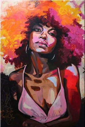 Redhead African woman paint by numbers