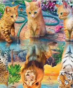 Reflection of Predatory Cats paint by numbers