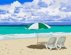 Relaxing Beach paint by numbers