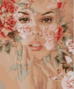 Roses Woman paint by numbers