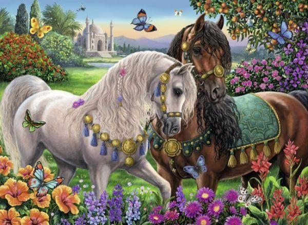 Royal Horses paint by numbers