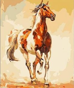Running Horse paint by numbers