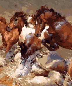 Running Horses paint by numbers