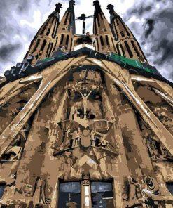 Sagrada Familia Barcelona paint by numbers