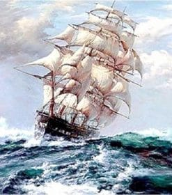 Sailing Boat paint by numbers
