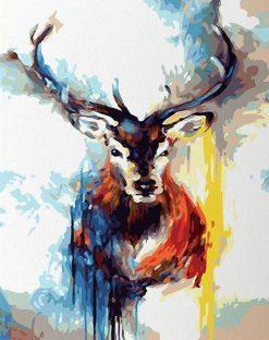 Splatter Deer paint by numbers