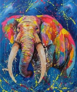 Splatter Elephant paint by numbers