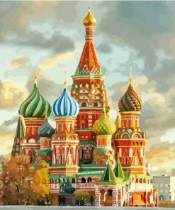 St Basils Cathedral Moscow paint by numbers