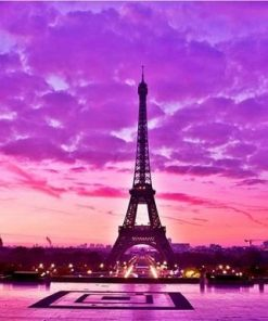 Sunset Eiffel Tower paint by numbers