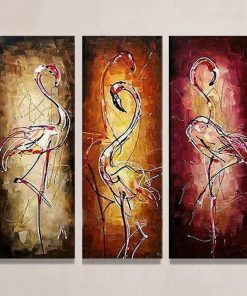 Abstract Swan Animals Hand Painted - DIY Paint By Numbers - Numeral Paint