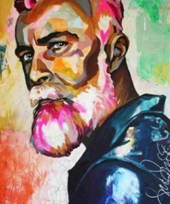 African Viking - DIY Paint By Numbers - Numeral Paint