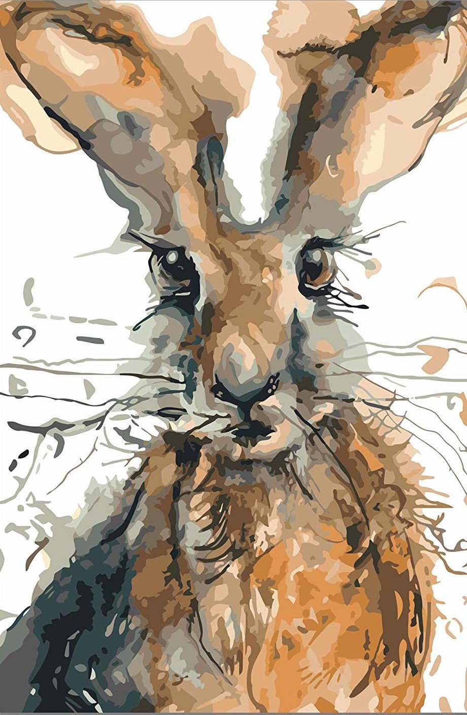 Watercolor Rabbit paint by numbers