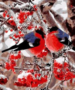 Red Birds - DIY Paint By Numbers - Numeral Paint