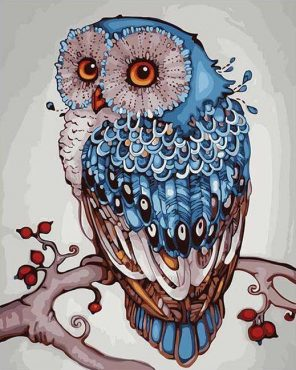 Abstract Owl - DIY Paint By Numbers - Numeral Paint