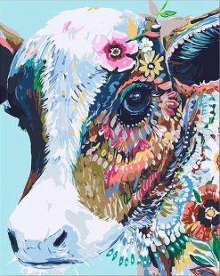 Abstract Cow - DIY Paint By Numbers - Numeral Paint