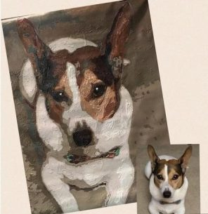 pet dog puppy paint by numbers personalized