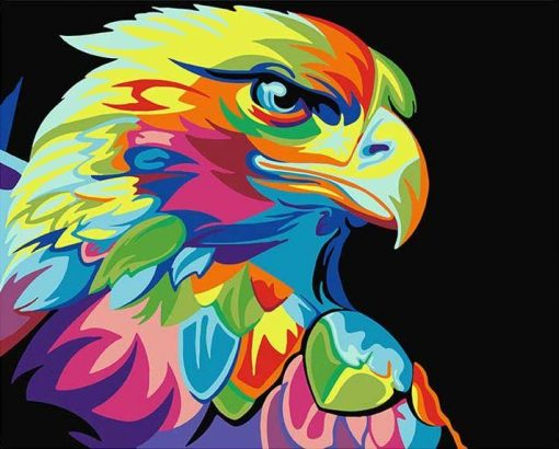 Abstract Eagle - DIY Paint By Numbers - Numeral Paint