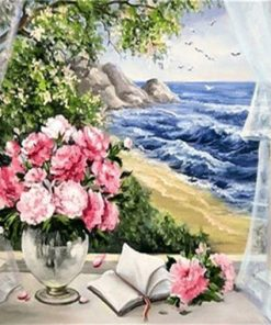 Flowers By The Sea - DIY Paint By Numbers - Numeral Paint